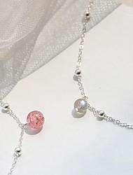 cheap -Women's Chain Bracelet - Simple Fashion Sweet Circle Gray Pink Bracelet For Gift Daily