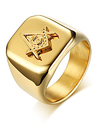 cheap -Men's Band Ring - Fashion 9 / 10 / 11 Gold For Daily / Formal
