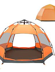 baratos -TANXIANZHE® 8 pessoas Tenda Dupla Camada Barraca de acampamento Ao ar livre Tenda Automática Prova-de-Água / Á Prova-de-Chuva / Á Prova