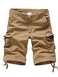 abordables -Homme Basique Short Pantalon Couleur Pleine