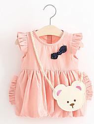 economico -Bambino Da ragazza Con stampe Con stampe Senza maniche Vestito / Romantico / Bambino (1-4 anni)