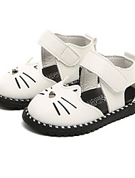 cheap -Girls' Shoes Leatherette Summer Comfort / First Walkers Sandals for White / Black / Pink