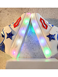 baratos -Para Meninas Sapatos Couro Ecológico Primavera Conforto / Tênis com LED Tênis para Preto / Verde / Azul
