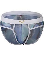 cheap -Men's G-string Underwear Briefs Underwear Geometric Camouflage Mid Rise
