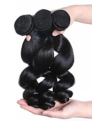 cheap -Brazilian Hair Wavy Bundle Hair 3 Bundles 20 inch Human Hair Weaves Machine Made Hot Sale Natural Black Human Hair Extensions Women's