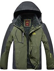 Недорогие -Муж. Куртка для туризма и прогулок на открытом воздухе Осень Зима С защитой от ветра Дожденепроницаемый Воздухопроницаемость Водонепроницаемаямолния Пригодно для носки Спортивная одежда Одежда