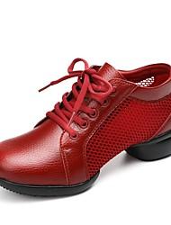 Недорогие -Жен. Танцевальные кроссовки / Обувь для модерна Телячья шерсть / Тюль Кроссовки На плоской подошве Персонализируемая Танцевальная обувь