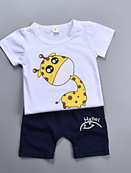 povoljno -Djeca Dječaci Print Kratkih rukava Komplet odjeće