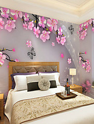 cheap -Mural Canvas Wall Covering - Adhesive required Floral Art Deco 3D