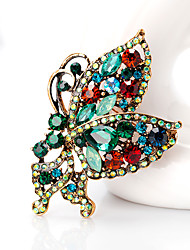 cheap -Women's Brooches - Butterfly, Animal European, Fashion Brooch Dark Green For Daily / Office & Career