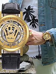 Недорогие -Муж. Жен. Нарядные часы Часы со скелетом Наручные часы Японский Кварцевый Кожа Черный / Коричневый Секундомер С гравировкой Творчество Аналоговый Роскошь Классика -  / Один год / SSUO LR626