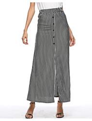 cheap -Women's Vintage Pencil Skirts - Striped Color Block