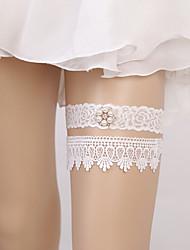 baratos -Renda Estilo Europeu Casamento Wedding Garter  -  Pedrarias Perola Imitação Ligas Casamento Festa