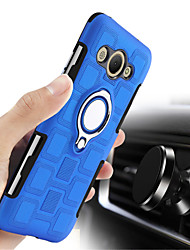 cheap -Case For Huawei Y3 (2017) Shockproof Ring Holder Back Cover Solid Colored Hard PC for Huawei Y3 (2017)