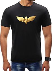 billige Herremode og tøj-Herre-Dyr Trykt mønster Basale T-shirt