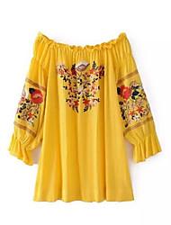 baratos -Mulheres Moda de Rua Reto Vestido Floral Acima do Joelho