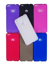 Недорогие -Кейс для Назначение Huawei P8 Lite (2017) P10 Lite Матовое Кейс на заднюю панель Сплошной цвет Мягкий ТПУ для P10 Lite P10 Huawei P9 Lite