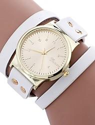 baratos -Mulheres Relógio de Moda Chinês Mostrador Grande PU Banda Casual / Fashion Preta / Branco / Azul / Um ano