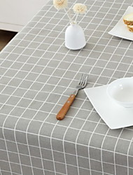 cheap -Contemporary Classic Cotton Blend Square Table Linens Striped Table Decorations