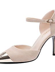 preiswerte -Damen Schuhe Pelz Frühling Herbst Pumps Gladiator High Heels Stöckelabsatz Spitze Zehe für Party & Festivität Schwarz Beige