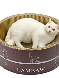 Недорогие -Коты Кровати Животные Подкладки Однотонный Креатив Учебный Избавляет от стресса Прочный Желтый Кофейный Синий Для домашних животных