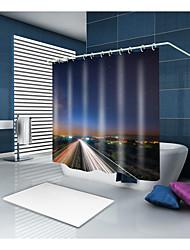 Недорогие -Занавески и крючки На каждый день Modern Полиэстер Современный стиль Новинки механически Водонепроницаемый Ванная комната