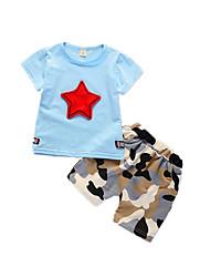 povoljno -Dijete koje je tek prohodalo Dječaci Geometrijski oblici Print Kratkih rukava Komplet odjeće