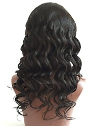 cheap -Unprocessed Wig Brazilian Hair Loose Wave Wavy Layered Haircut 130% Density With Baby Hair Natural Hairline Black Short Long Mid Length