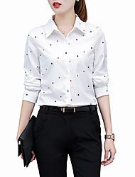Недорогие -Жен. Офис Большие размеры - Рубашка Рубашечный воротник Геометрический принт