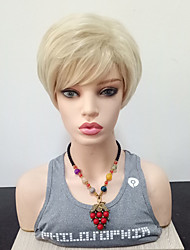 cheap -Synthetic Wig Straight Side Part Synthetic Hair Heat Resistant Blonde Wig Women's Short Capless / Yes