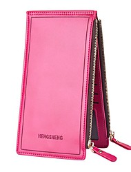 cheap -Women's Bags PU Leather / Polyurethane Leather Wallet Zipper for Shopping Orange / Red / Fuchsia