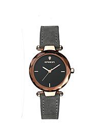 Недорогие -Жен. Повседневные часы Модные часы Японский Кварцевый Натуральная кожа Серый 30 m Защита от влаги Аналоговый Дамы На каждый день Мода - Стальной Один год Срок службы батареи