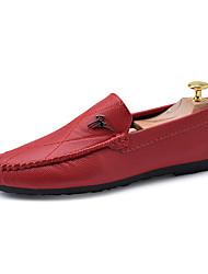 baratos -Homens sapatos spandex Tecido Primavera Outono Conforto Tênis Caminhada Branco Preto Laranja
