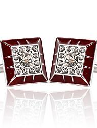 preiswerte -Geometrische Form Silber Manschettenknöpfe Aleación Europäisch / Modisch Herrn Modeschmuck Für Hochzeit / Formal