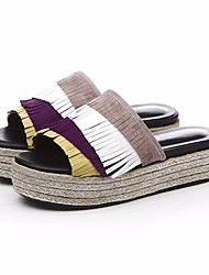 cheap -Women's Shoes Cowhide Summer Comfort Slippers & Flip-Flops Creepers for Orange Purple