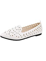 abordables -Femme Chaussures Polyuréthane Printemps Confort Ballerines Talon Plat pour Blanc / Noir / Rose