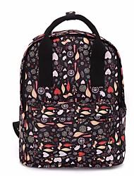 preiswerte -Damen Taschen Segeltuch Rucksack Reißverschluss für Normal Ganzjährig Schwarz Milchiges Weiß Dunkelblau Marineblau Rot
