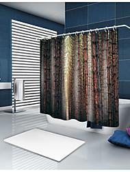 abordables -Rideaux de douche et anneaux Décontracté Rustique Polyester Couleur Pleine Moderne Fabrication à la machine Imperméable Salle de Bain