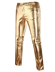 cheap -Men's Punk & Gothic Chinos Pants - Solid Colored