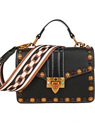 cheap -Women's Bags PU Leather Tote Rivet Black / Coffee / Brown