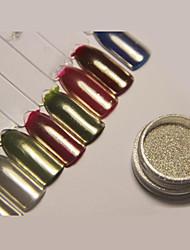 Недорогие -1 pcs Порошок блеска Зеркальный эффект / Гель для ногтей Дизайн ногтей Глянцевый Свадьба / Для праздника / вечеринки