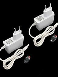 cheap -ZDM® 2pcs 100-240 V Strip Light Accessory / EU Power Supply / Button Switch Plastic for LED Strip light 24 W