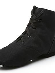 Недорогие -Муж. Обувь для джаза Полотно На плоской подошве / Кроссовки Планка На плоской подошве Персонализируемая Танцевальная обувь Черный