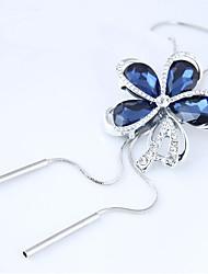Недорогие -С кисточками / Длиные Ожерелья с подвесками - Цветы и растения, Цветы европейский, Мода Синий 70 cm Ожерелье Назначение Для вечеринок, Повседневные