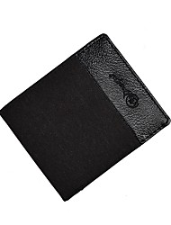 abordables -Hombre Bolsos Piel / Nailon Billeteras En Relieve Azul Piscina / Negro