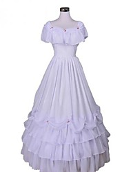 cheap -Victorian / Medieval Costume Women's Dress / Party Costume / Masquerade White Vintage Cosplay Lace / Organza / Terylene Sleeveless Long Length