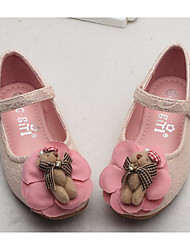 cheap -Girls' Shoes Lace Spring / Fall Comfort / Flower Girl Shoes Flats for White / Pink