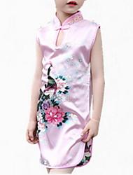 abordables -Robe Fille de Sortie Jacquard Polyester Eté Sans Manches