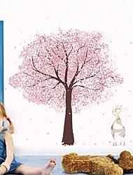 Недорогие -Наклейка на стену Декоративные наклейки на стены - Простые наклейки Цветочные мотивы / ботанический Положение регулируется Съемная