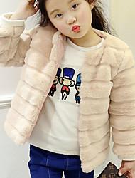 preiswerte -Kinder Mädchen Einfach Solide Langarm Bluse